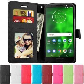 Mobil lommebok 3-kort Motorola Moto G6 mobiltelefon deksel