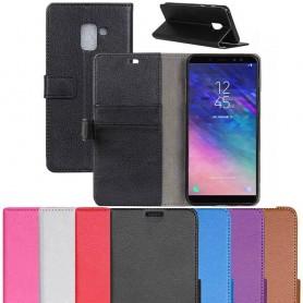 Mobil lommebok 2-kort Samsung Galaxy A6 Plus 2018 SM-A605 Mobildeksel
