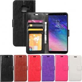 Mobil lommebok 3 kort Samsung Galaxy A6 Plus 2018 mobil deksel
