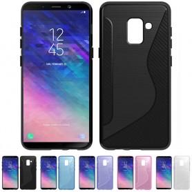 S Line silikonskall Samsung Galaxy A6 Plus 2018 mobil skallbeskyttelse caseonline