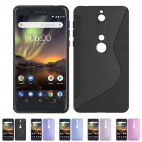 S Line silikonhylster Nokia 6.1 2018 mobil skallbeskyttelse caseonline