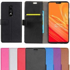 Mobil lommebok 2-kort OnePlus 6 mobil deksel