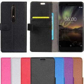 Mobil lommebok 2-kort Nokia 6.1 2018 mobiltelefon etui