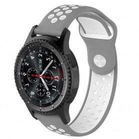 EBN Sport Armbånd Samsung Gear S3 grå / hvit CaseOnline silikon