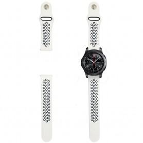 EBN Sport Armbånd Samsung Gear S3 hvit / svart silikon armbånd caseonline