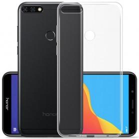 Huawei Y6 2018 Silikonetui Gjennomsiktig Mobiltelefonbeskytter TPU