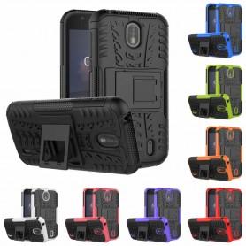 Slagbestandig skall med Nokia 1 mobiltelefon beskyttelsesetui