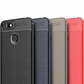 Lærmønstret TPU-skall Huawei Y6 2018 mobil deksel
