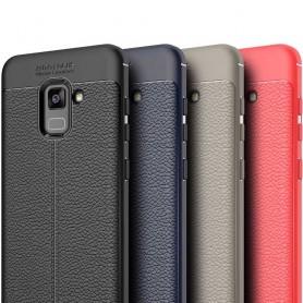 Lærmønstret TPU-skall Samsung Galaxy A6 Plus 2018 mobiltelefonetui CaseOnline