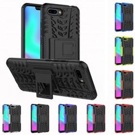 Slagsikret mobilt skall med stativ Huawei Honor 10 Silikonetui CaseOnline