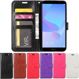 Mobil lommebok 3-kort Huawei Y6 2018 mobil shell case planbok