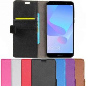 Mobil lommebok 2-kort Huawei Y6 2018 mobilveske caseonline