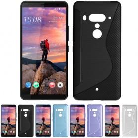 S Line silikonskall HTC U12 + beskyttelse mot mobil skall