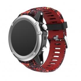 Camo-armbånd Garmin Fenix 3 / 5X (rød gelé fi) CaseOnline