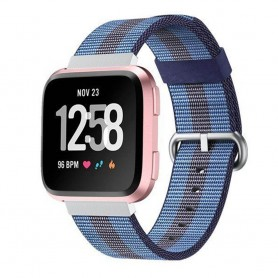 Nylon armbånd til Fitbit Versa - Mblå
