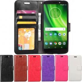 Mobil lommebok 3-kort Motorola Moto G6 Play mobiltelefon etui