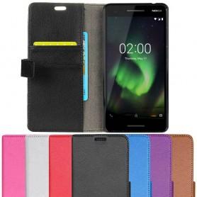 Mobil lommebok 2-korts Nokia 2.1 2018 mobiltelefon case-caseonline