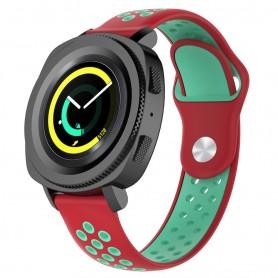 EBN Sport Armbånd Samsung Gear Sport - rød / grønn