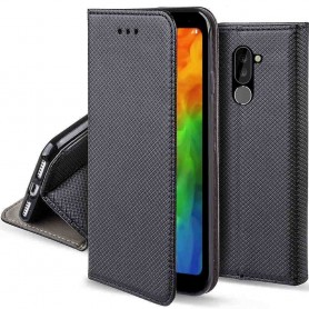 Moozy Smart Magnet FlipCase LG Q7 mobiltelefon skall