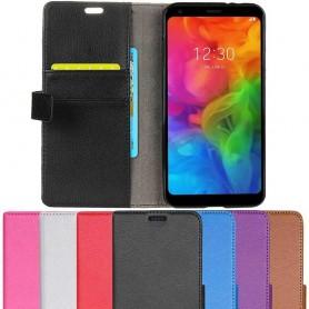 Mobil lommebok 2-kort LG Q7 mobiltelefon veske