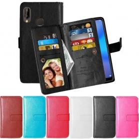 Dobbeltvipp Flexi 9-kort Huawei P20 Lite mobil deksel lommebokveske
