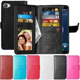 Dobbeltvipp Flexi 9-kort HTC Desire 12 lommebokveske for mobiltelefoner