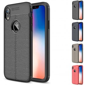 "Lærmønstret TPU mobil deksel Apple iPhone XR (6,1 "")"