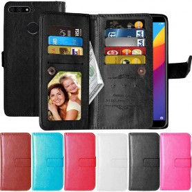 Dobbel flip Flexi 9-kort Huawei Y7 2018 mobil shell-lommebok