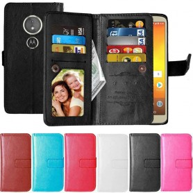 Dobbel klaff Flexi 9-kort Motorola Moto E5 mobil deksel