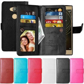 Dobbeltklikk Flexi 9-kort Sony Xperia L2 mobildeksel