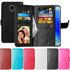 Dobbelt flip Flexi 9-kort Samsung Galaxy J3 2018 mobiltelefon etui
