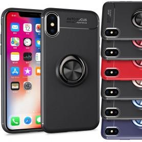 Slim Ring Case Apple iPhone XS Max Mobiltelefon Magnet Bilholder