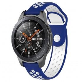 EBN Sport Armbånd Samsung Galaxy Watch 46mm-Blå / hvit