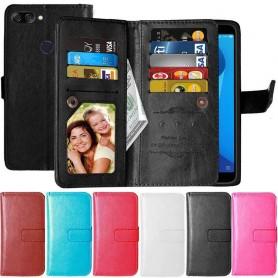 Dobbelt klaff Flexi 9-kort beskyttelse mot Asus Zenfone Max Plus ZB570TL