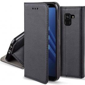 Moozy Smart Magnet FlipCase Samsung Galaxy A8 Plus 2018 mobilskall