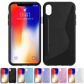 "S Line silikonskall Apple iPhone XR (6,1 "") mobil skallkassonline"