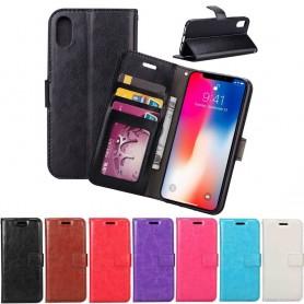 Mobil lommebok 3-kort Apple iPhone XS Max Set Seddel Silikonramme Etui
