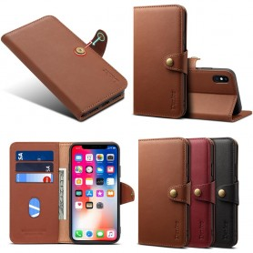 Denior Mobile Wallet Leather 3 Card Apple iPhone XS Max Leather Case Cover Caseonline
