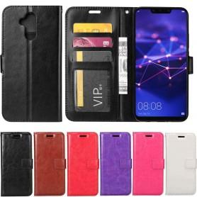 Mobil lommebok 3-kort Huawei Mate 20 Lite veske Mobildeksel
