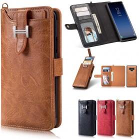 Multi Wallet 3i1 9-kort Samsung Galaxy Note 9 Veske Magnetisk 2i1 Veske Caseonline
