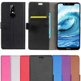 Mobil lommebok 2-kort Nokia 5.1 Plus Veske Mobiltelefon Veske