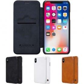 Nillkin Qin FlipCover Apple iPhone XS Max flip case mobil skall