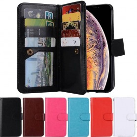 Dobbelt flip Magnet 2i1 avtagbart skall 9card Apple iPhone XS Max mobil deksel
