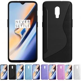 S Line silikonskall OnePlus 6T beskyttelsesbeskyttelse for Case Case