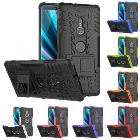 Støtsikker skall med stativ Sony Xperia XZ3 mobil deksel silikon deksel caseonline