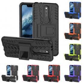 Slagbestandig skall med stativ Nokia 5.1 Plus mobiltelefon silikon deksel beskyttelse caseonline