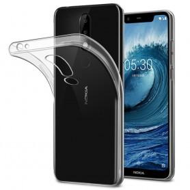 Nokia 5.1 Plus Silikonetui Gjennomsiktig mobilskall