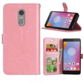 Mobil lommebok 3-kort Lenovo K6 Note - Lys rosa