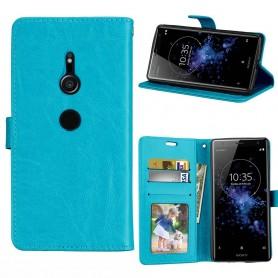 Mobil lommebok 3-kort Sony Xperia XZ2 - Blå