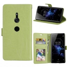Mobil lommebok 3-kort Sony Xperia XZ2 - Grønn